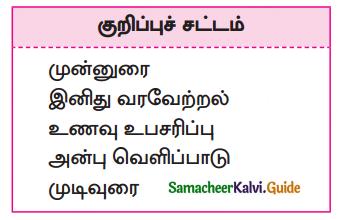 Samacheer Kalvi 10th Tamil Guide Chapter 3.1 விருந்து போற்றுதும்! - 1