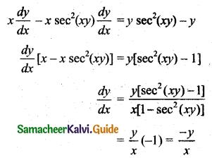 Samacheer Kalvi 11th Business Maths Guide Chapter 5 Differential Calculus Ex 5.6 Q1.1