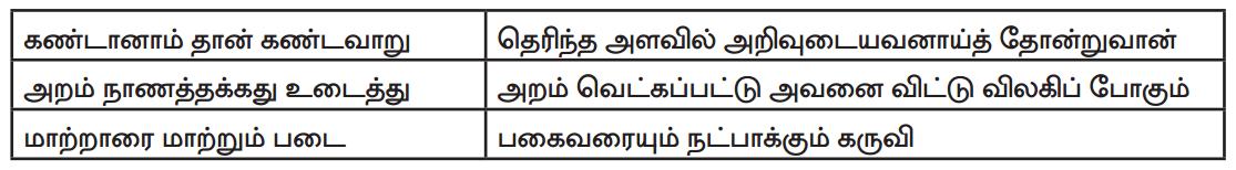 Samacheer Kalvi 9th Tamil Guide Chapter 6.6 திருக்குறள் - 3