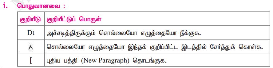 Samacheer Kalvi 11th Tamil Guide Chapter 8.6 மெய்ப்புத் திருத்தக் குறியீடுகள் - 2