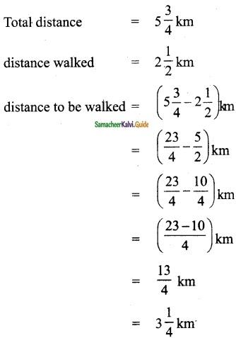Samacheer Kalvi 6th Maths Guide Term 3 Chapter 1 Fractions Ex 1.2 2