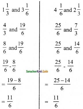 Samacheer Kalvi 6th Maths Guide Term 3 Chapter 1 Fractions Ex 1.2 7