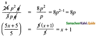 Samacheer Kalvi 8th Maths Guide Answers Chapter 3 Algebra Ex 3.2 8