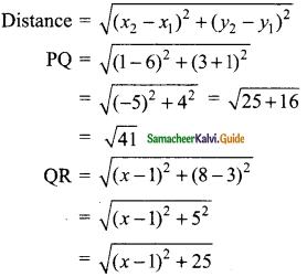 Samacheer Kalvi 9th Maths Guide Chapter 5 Coordinate Geometry Additional Questions 6