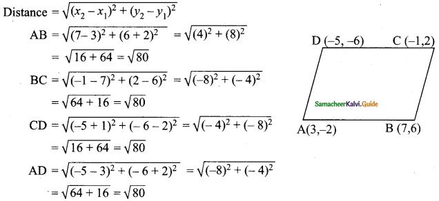 Samacheer Kalvi 9th Maths Guide Chapter 5 Coordinate Geometry Ex 5.2 13