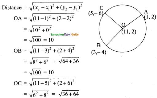 Samacheer Kalvi 9th Maths Guide Chapter 5 Coordinate Geometry Ex 5.2 18