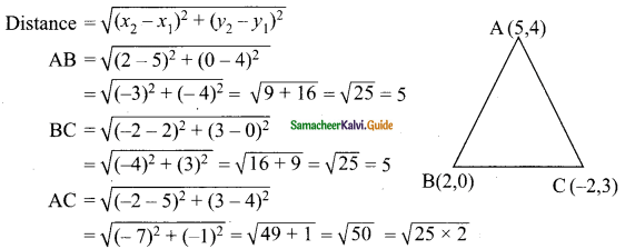 Samacheer Kalvi 9th Maths Guide Chapter 5 Coordinate Geometry Ex 5.2 7