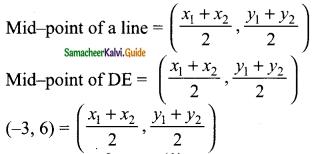 Samacheer Kalvi 9th Maths Guide Chapter 5 Coordinate Geometry Ex 5.3 9