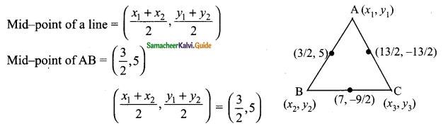 Samacheer Kalvi 9th Maths Guide Chapter 5 Coordinate Geometry Ex 5.5 13