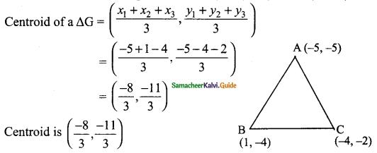 Samacheer Kalvi 9th Maths Guide Chapter 5 Coordinate Geometry Ex 5.5 2