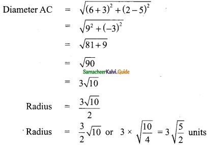 Samacheer Kalvi 9th Maths Guide Chapter 5 Coordinate Geometry Ex 5.5 9