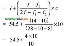 Samacheer Kalvi 9th Maths Guide Chapter 8 Statistics Ex 8.3 9