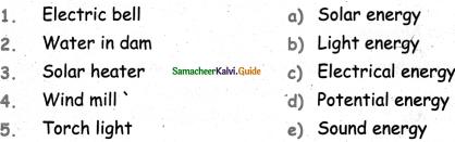 Samacheer Kalvi 5th Science Guide Term 1 Chapter 3 Energy 1