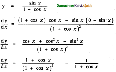 Samacheer Kalvi 11th Maths Guide Chapter 10 Differentiability and Methods of Differentiation Ex 10.2 2