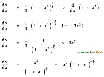Samacheer Kalvi 11th Maths Guide Chapter 10 Differentiability and Methods of Differentiation Ex 10.3 1