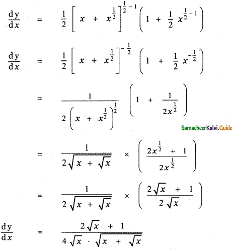 Samacheer Kalvi 11th Maths Guide Chapter 10 Differentiability and Methods of Differentiation Ex 10.3 16