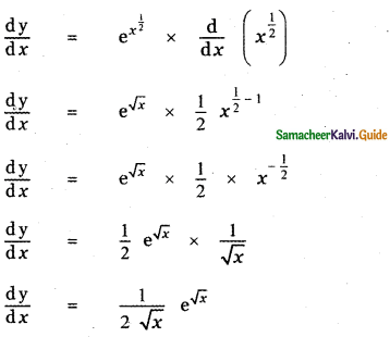Samacheer Kalvi 11th Maths Guide Chapter 10 Differentiability and Methods of Differentiation Ex 10.3 2