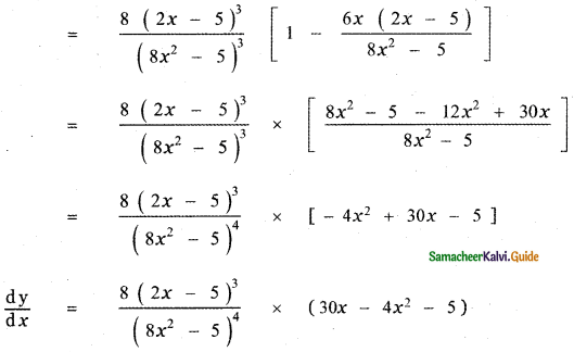 Samacheer Kalvi 11th Maths Guide Chapter 10 Differentiability and Methods of Differentiation Ex 10.3 6