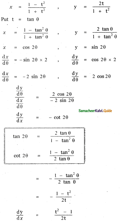 Samacheer Kalvi 11th Maths Guide Chapter 10 Differentiability and Methods of Differentiation Ex 10.4 21