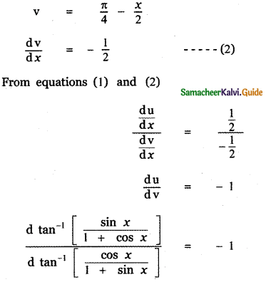 Samacheer Kalvi 11th Maths Guide Chapter 10 Differentiability and Methods of Differentiation Ex 10.4 33