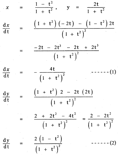 Samacheer Kalvi 11th Maths Guide Chapter 10 Differentiability and Methods of Differentiation Ex 10.5 13