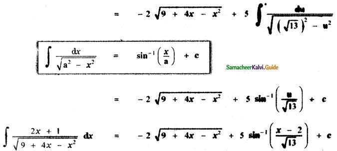 Samacheer Kalvi 11th Maths Guide Chapter 11 Integral Calculus Ex 11.11 11