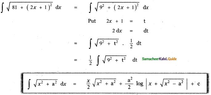 Samacheer Kalvi 11th Maths Guide Chapter 11 Integral Calculus Ex 11.12 7