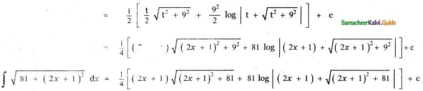 Samacheer Kalvi 11th Maths Guide Chapter 11 Integral Calculus Ex 11.12 8