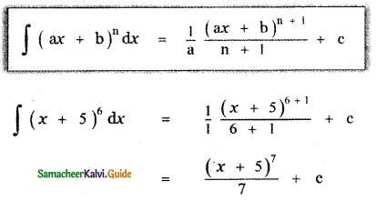 Samacheer Kalvi 11th Maths Guide Chapter 11 Integral Calculus Ex 11.2 1