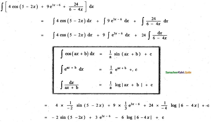 Samacheer Kalvi 11th Maths Guide Chapter 11 Integral Calculus Ex 11.3 3