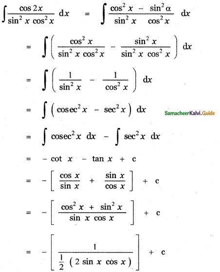Samacheer Kalvi 11th Maths Guide Chapter 11 Integral Calculus Ex 11.5 12