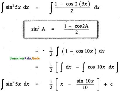 Samacheer Kalvi 11th Maths Guide Chapter 11 Integral Calculus Ex 11.5 19