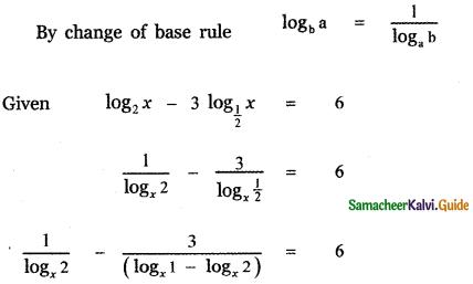 Samacheer Kalvi 11th Maths Guide Chapter 2 Basic Algebra Ex 2.12 11