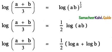 Samacheer Kalvi 11th Maths Guide Chapter 2 Basic Algebra Ex 2.12 5
