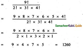 Samacheer Kalvi 11th Maths Guide Chapter 4 Combinatorics and Mathematical Induction Ex 4.2 10