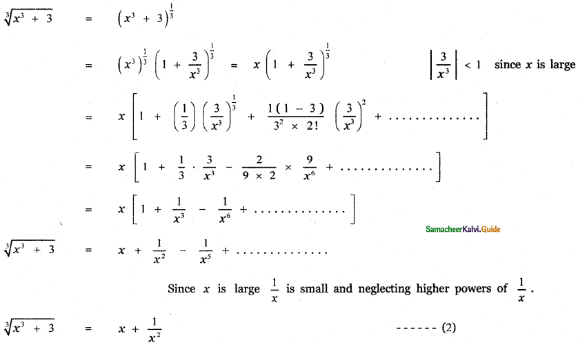 Samacheer Kalvi 11th Maths Guide Chapter 5 Binomial Theorem, Sequences and Series Ex 5.4 10