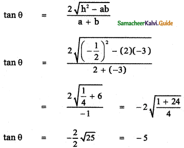 Samacheer Kalvi 11th Maths Guide Chapter 6 Two Dimensional Analytical Geometry Ex 6.4 1