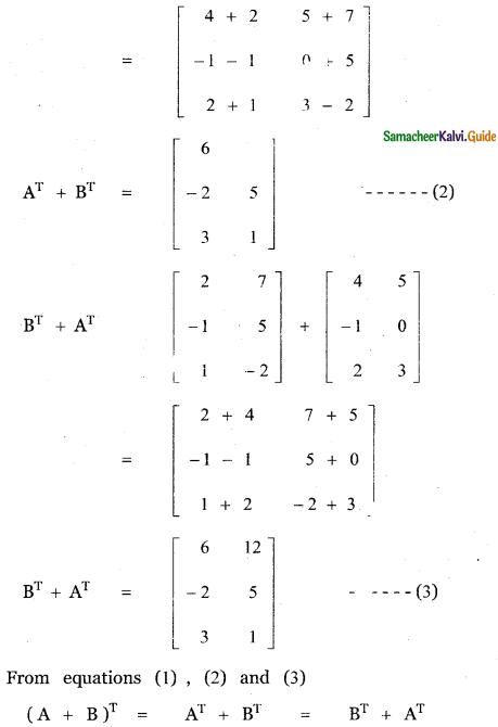 Samacheer Kalvi 11th Maths Guide Chapter 7 Matrices and Determinants Ex 7.1 41