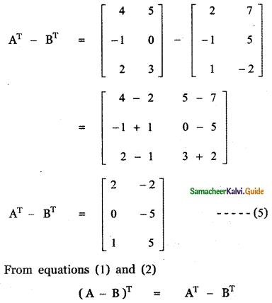 Samacheer Kalvi 11th Maths Guide Chapter 7 Matrices and Determinants Ex 7.1 43