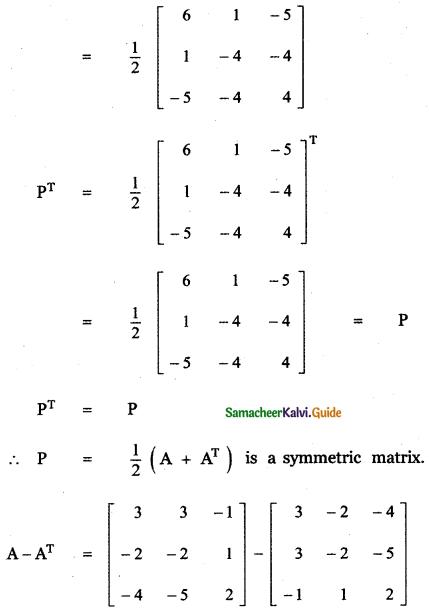 Samacheer Kalvi 11th Maths Guide Chapter 7 Matrices and Determinants Ex 7.1 50