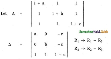 Samacheer Kalvi 11th Maths Guide Chapter 7 Matrices and Determinants Ex 7.2 10