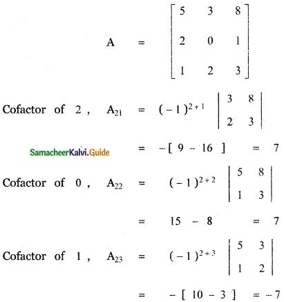Samacheer Kalvi 11th Maths Guide Chapter 7 Matrices and Determinants Ex 7.2 52