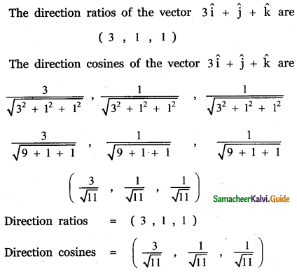 Samacheer Kalvi 11th Maths Guide Chapter 8 Vector Algebra - I Ex 8.2 11