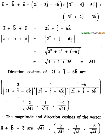 Samacheer Kalvi 11th Maths Guide Chapter 8 Vector Algebra - I Ex 8.2 33