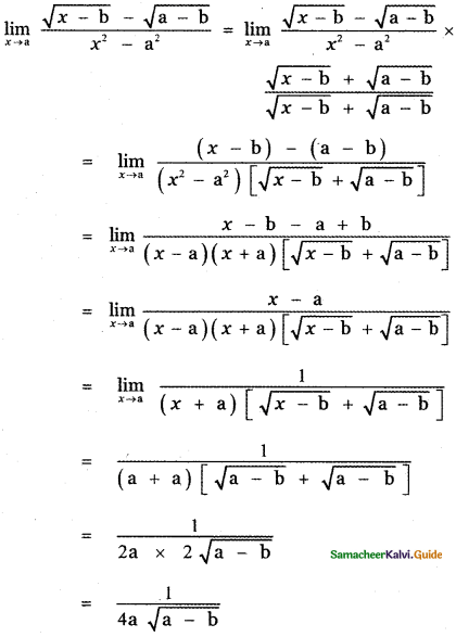 Samacheer Kalvi 11th Maths Guide Chapter 9 Limits and Continuity Ex 9.2 37