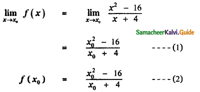 Samacheer Kalvi 11th Maths Guide Chapter 9 Limits and Continuity Ex 9.5 12