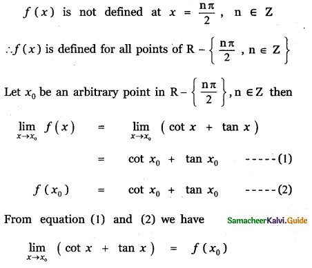 Samacheer Kalvi 11th Maths Guide Chapter 9 Limits and Continuity Ex 9.5 19