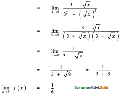 Samacheer Kalvi 11th Maths Guide Chapter 9 Limits and Continuity Ex 9.5 70