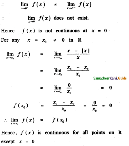 Samacheer Kalvi 11th Maths Guide Chapter 9 Limits and Continuity Ex 9.6 61