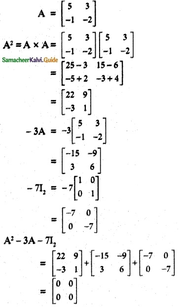 Samacheer Kalvi 12th Maths Guide Chapter 1 Applications of Matrices and Determinants Ex 1.1 11